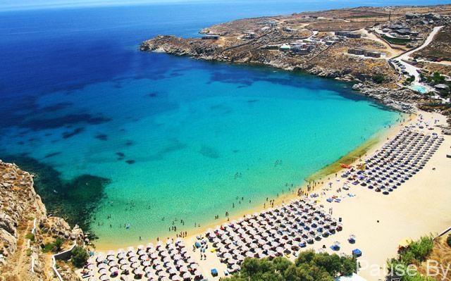 пляжи на Миконос