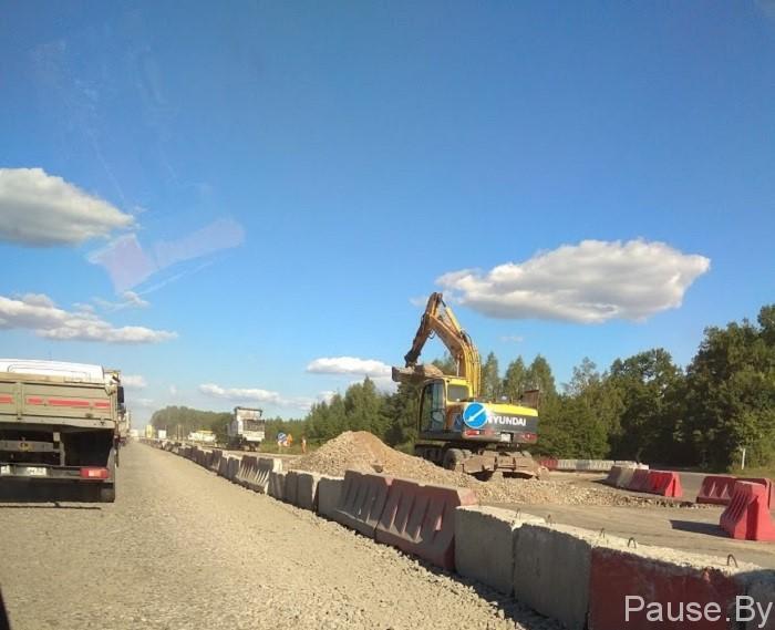 ремонт на трассе Гомель-Брянск